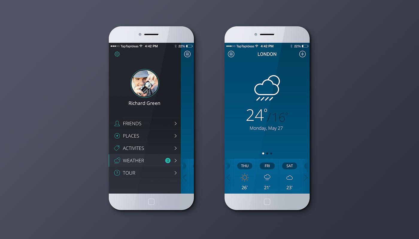 Mobile app – blue version